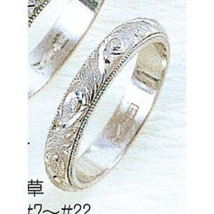 Pt900甲丸唐草3.5mmプラチナマリッジリング結婚指輪TRK344|trideacoltd