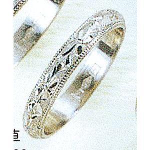 Pt900甲丸忘れな草3mmプラチナマリッジリング結婚指輪TRK345|trideacoltd