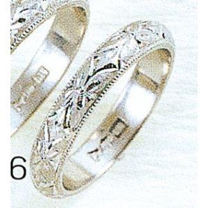 Pt900甲丸忘れな草3.5mmプラチナマリッジリング結婚指輪TRK346|trideacoltd