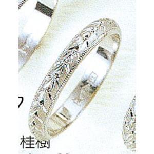 Pt900甲丸月桂樹3mmプラチナマリッジリング結婚指輪TRK347|trideacoltd