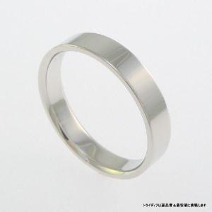 Pt900平打4mm5.6gプラチナマリッジリング結婚指輪TRK350 trideacoltd
