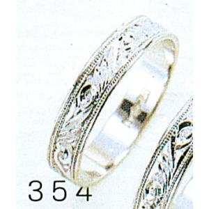 Pt900平打4mm唐草プラチナマリッジリング結婚指輪TRK354 trideacoltd