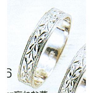 Pt900平打4mm忘れな草プラチナマリッジリング結婚指輪TRK356 trideacoltd