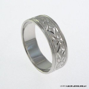 Pt900平打6mm忘れな草プラチナマリッジリング結婚指輪TRK357 trideacoltd