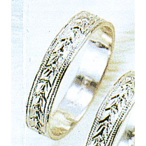 Pt900平打4mm月桂樹プラチナマリッジリング結婚指輪TRK358 trideacoltd