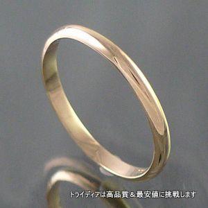 K18甲丸細2mm金マリッジリング結婚指輪TRK360-0S