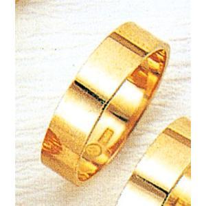 K18平打5mm3.7g金マリッジリング結婚指輪TRK372|trideacoltd