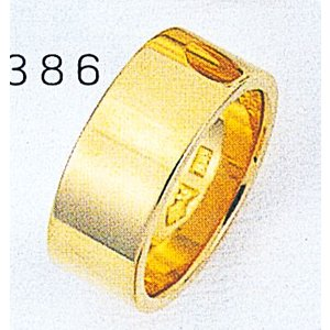 K18平打8mm11g金マリッジリング結婚指輪TRK386|trideacoltd