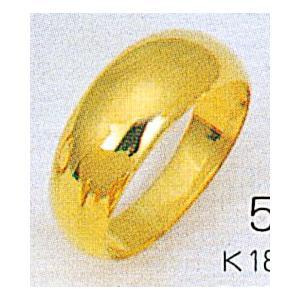 K18月形5gマリッジリング結婚指輪 金TRK502|trideacoltd