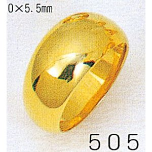 K18月形11g金マリッジリング結婚指輪TRK505|trideacoltd