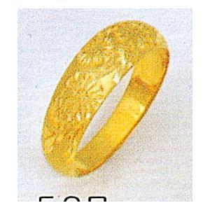 K18月形菊3.7g金マリッジリング結婚指輪TRK507|trideacoltd