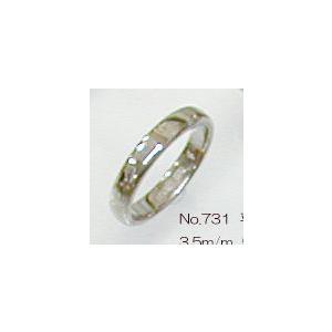 K18WG平打甲丸3.5mmホワイトゴールドリング結婚指輪TRK731|trideacoltd
