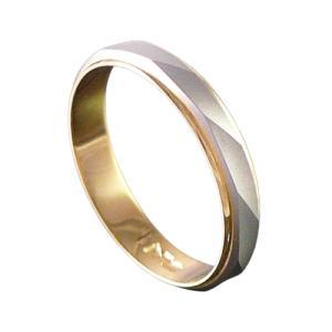 コンビリングPt900K18金マルス/プラチナゴールドペアリング鍛造|trideacoltd
