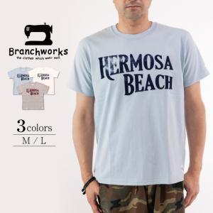 ドライ天竺 半袖Tシャツ HERMOSA BEACH 【Branchworks】ブランチワークス 着心地が良い 日本製 メンズ|trioofficial