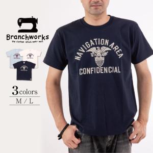 ドライ天竺 半袖Tシャツ NAVIGATIONAREA 【Branchworks】ブランチワークス 着心地が良い 日本製 メンズ|trioofficial