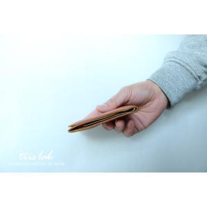 コインポケットのあるうすいお財布 イタリアヌメ 札ばさみ|trislab