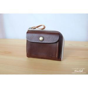 ポッケのついたちいさなお財布 イタリアレザー ダークブラウン |trislab