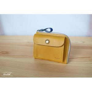 ポッケのついたちいさなお財布 【限定色】イエロ― イタリアレザー|trislab
