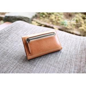 キーケースNEW! ちいさなお財布なキーケース (2段染色ヌメ)イタリアレザー |trislab|02