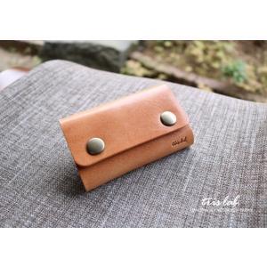キーケースNEW! ちいさなお財布なキーケース (2段染色ヌメ)イタリアレザー |trislab|03