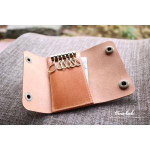 キーケースNEW! ちいさなお財布なキーケース (2段染色ヌメ)イタリアレザー |trislab|04