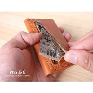 キーケースNEW! ちいさなお財布なキーケース (2段染色ヌメ)イタリアレザー |trislab|05