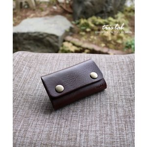 キーケースNEW! ちいさなお財布なキーケース (ダークブラウン)イタリアレザー |trislab