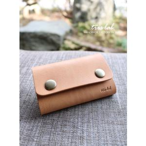 キーケースNEW! ちいさなお財布なキーケース (ヌメ)イタリアレザー |trislab