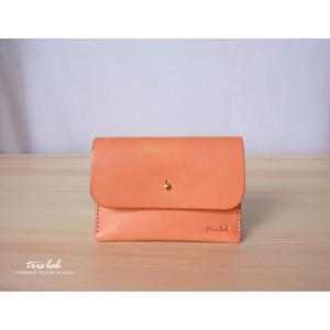 名刺入れ カードケース イタリアレザー (オレンジ)|trislab