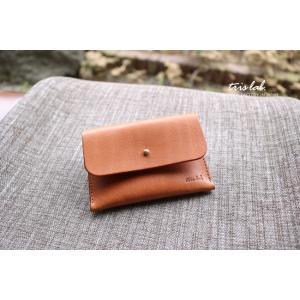 名刺入れ カードケース イタリアレザー (ライトブラウン)|trislab