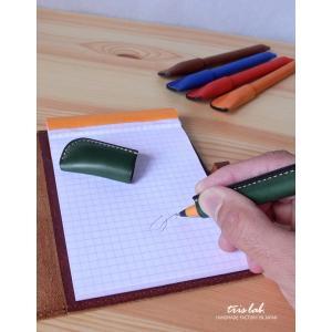 ペン 革巻きペン イタリアンレザー|trislab