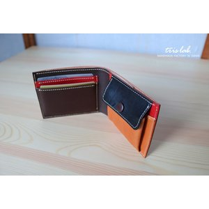 ちいさな2つ折りのお財布 イタリアレザー 【classico】|trislab|02