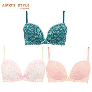 (アモスタイル)AMO'S STYLE コスモスレース  ブラ&ショーツセット(B,C,Dカップ) AMST212WHU+Mini|triumph-amosstyle