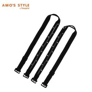 アウトレットセール(アモスタイル)AMO'S STYLE クリスタル+スパゲティ2連ストラップ ラージ(幅太め) AMSTN715 Strap2|triumph-amosstyle