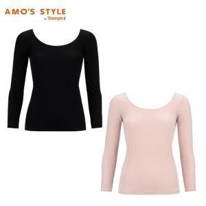 アウトレットセール(アモスタイル)AMO'S STYLE Basicインナー 7分袖トップ AMSTG1352 Top(7)