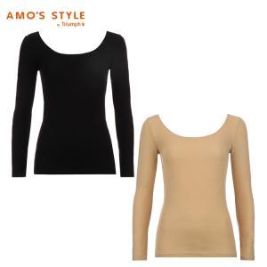 セール70%OFF(アモスタイル)AMO'S STYLE 秘めインナーHot 9分袖トップ AMSTG1362 Top(9)