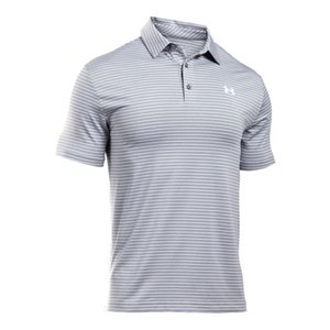 アンダーアーマー メンズ Under Armour Playoff Golf Polo Shirt ゴルフ ポロシャツ True Gray Heather / White|troishomme