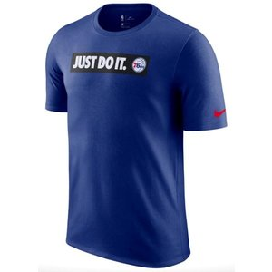 ナイキ メンズ Tシャツ Nike NBA JDI Team T-Shirt Philadelphia 76ers シクサーズ Rush Blue|troishomme