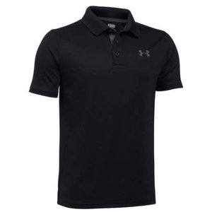 アンダーアーマー キッズ/ボーイズ Under Armour Performance Golf Shirt ポロシャツ Black / Carbon Heather|troishomme