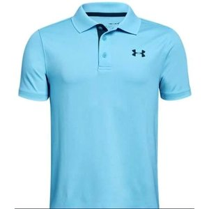 アンダーアーマー キッズ/ボーイズ Under Armour Performance Golf Shirt ポロシャツ Venetian Blue / Techno Teal|troishomme