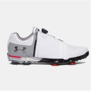 アンダーアーマー メンズ スピース1 Under Armour Spieth One BOA Golf Shoes ゴルフシューズ White/Steel/Navy ボア|troishomme