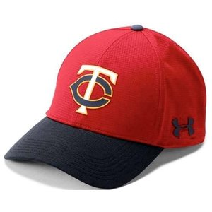アンダーアーマー メンズ Under Armour MLB Driver Baseball Cap Minnesota Twins メジャー リーグ ミネソタ・ツインズ キャップ|troishomme