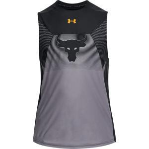 アンダーアーマー メンズ Under Armour x Project Rock Vanish Sleeveless Shirt タンクトップ Black/Steeltown Gold troishomme