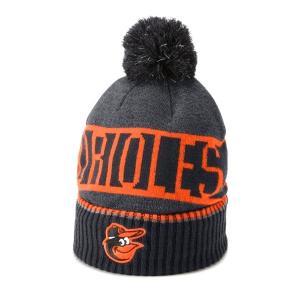 アンダーアーマー メンズ Under Armour MLB Team Pom Beanie Headwear ニット帽 ビーニー 帽子 Black / Explosive|troishomme