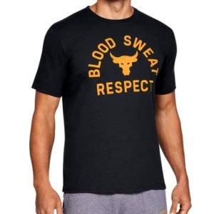 アンダーアーマー メンズ Under Armour x Project Rock Blood Sweat Respect T-Shirt Tシャツ 半袖 Black プロジェクトロック troishomme