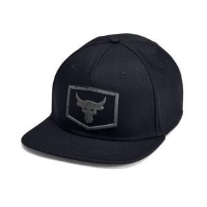 アンダーアーマー プロジェクト ロック メンズ キャップ UA Project Rock Strength Flat Brim Cap 帽子 Black|troishomme