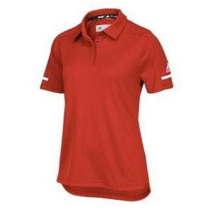 アディダス レディース/ウーマン ポロシャツ adidas Team Iconic Coaches Polo 半袖 Tシャツ ゴルフ Power Red/White|troishomme