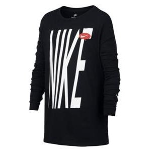 ナイキ ボーイズ/キッズ ロンT Nike Bold Graphic Long-Sleeve T-Shirt Tシャツ 長袖 Black/White|troishomme