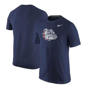 ナイキ メンズ NCAA カレッジ Tシャツ Gonzaga Bulldogs Nike Big Logo T-Shirt Navy|troishomme
