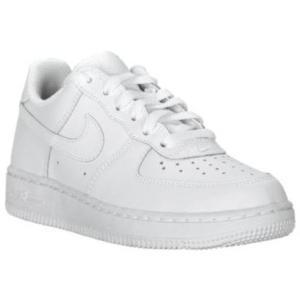 ナイキ キッズ/ジュニア スニーカー Nike Air Force 1 Low Preschool PS シューズ White/White|troishomme